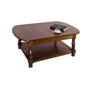 Large Extending Coffee Table - Solid Oak Coffee Tables - Tudor Oak, UK