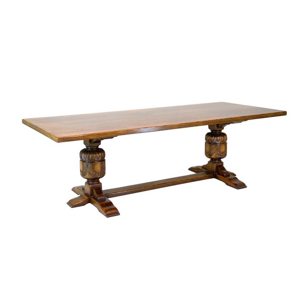Extra Long Dining Table - Solid Oak Dining Tables - Tudor Oak, UK