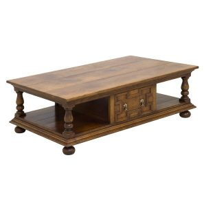 Oak Coffee Table with Storage - Solid Oak Coffee Tables - Tudor Oak UK