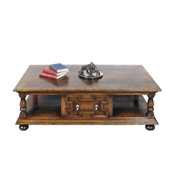 Oak Coffee Table with Storage - Solid Oak Coffee Tables - Tudor Oak UK