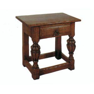 Stool with Storage - Oak Benches, Settles & Stools - Tudor Oak, UK