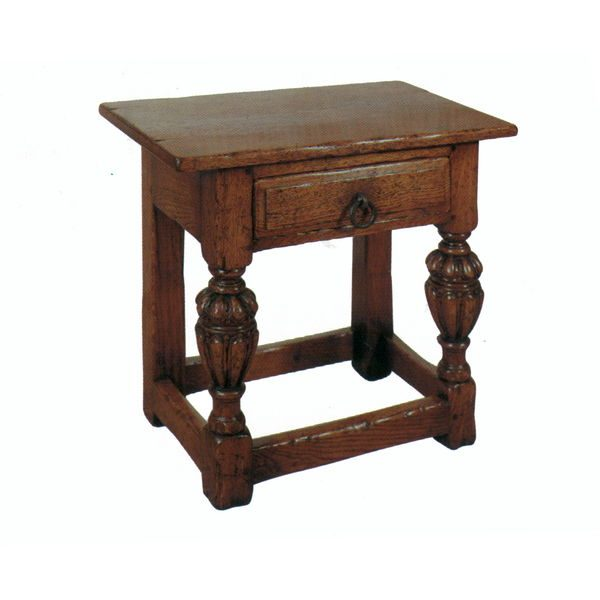 Stool with Storage - Oak Benches, Settles & Stools - Tudor Oak, UK