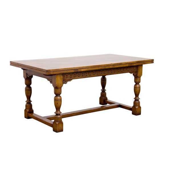 Oak Extendable Dining Table - Solid Oak Dining Tables - Tudor Oak, UK