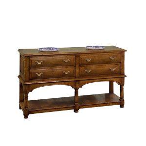Solid Oak Narrow Sideboard - Solid Wood Sideboards - Tudor Oak, UK