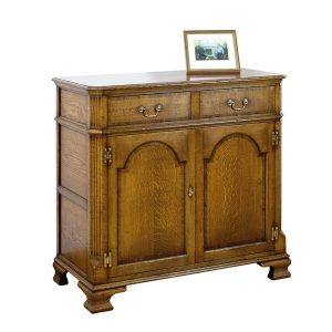 English Oak Small Sideboard - Solid Wood Sideboards - Tudor Oak, UK
