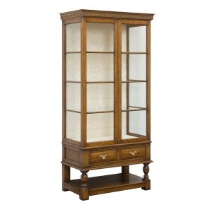 Solid Oak Display Cabinet - Oak Wine & Display Cabinets - Tudor Oak UK
