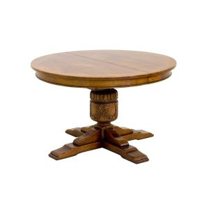 Circular Extending Dining Table - Oak Dining Tables - Tudor Oak, UK
