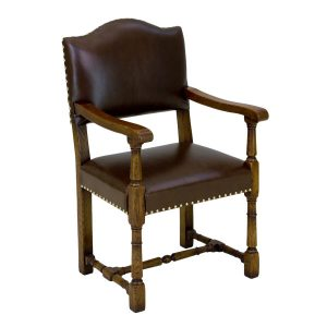 Bespoke Armchair - Traditional Oak Dining Chairs - Tudor Oak, UK
