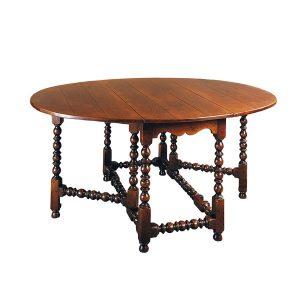 English Oak Drop Leaf Table - Solid Oak Dining Tables - Tudor Oak, UK