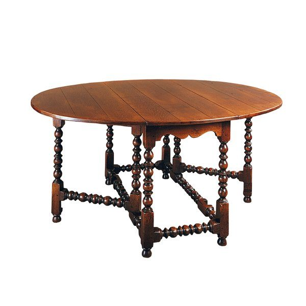 English Oak Drop Leaf Table - Solid Oak Dining Tables - Tudor Oak, UK