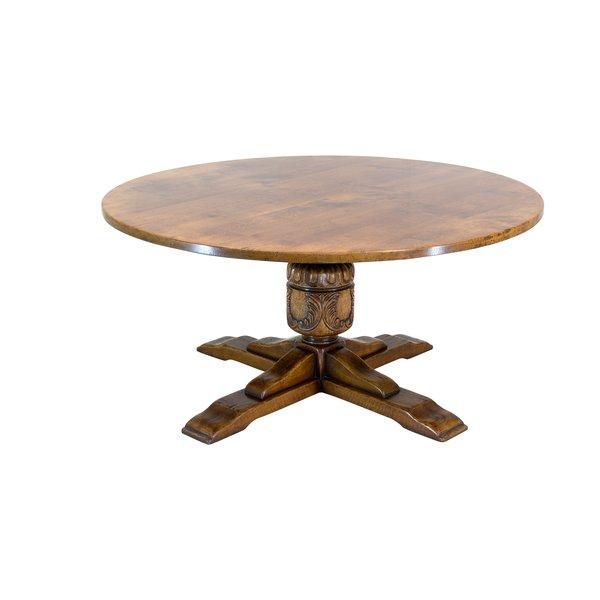 Solid Oak Round Dining Table - Oak Dining Tables - Tudor Oak, UK