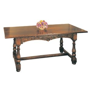 Carved Wooden Dining Table - Solid Oak Dining Tables - Tudor Oak, UK