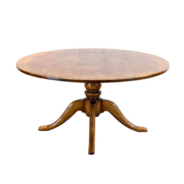 Round Wooden Dining Table - Solid Oak Dining Tables - Tudor Oak, UK