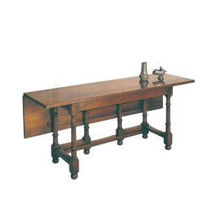 Gateleg Refectory Dining Table - Solid Oak Dining Tables - Tudor Oak
