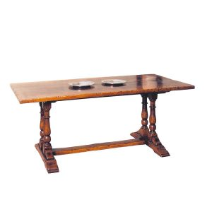 Rustic Oak Dining Table - Solid Oak Dining Tables - Tudor Oak, UK