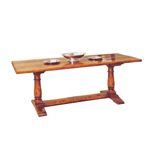 Narrow Dining Table - Solid Oak Dining Tables - Tudor Oak, UK