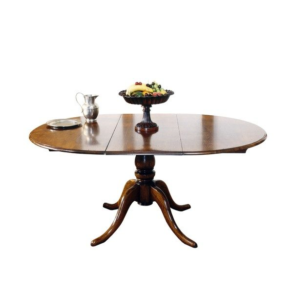 Round Extending Dining Table - Solid Oak Dining Tables - Tudor Oak, UK
