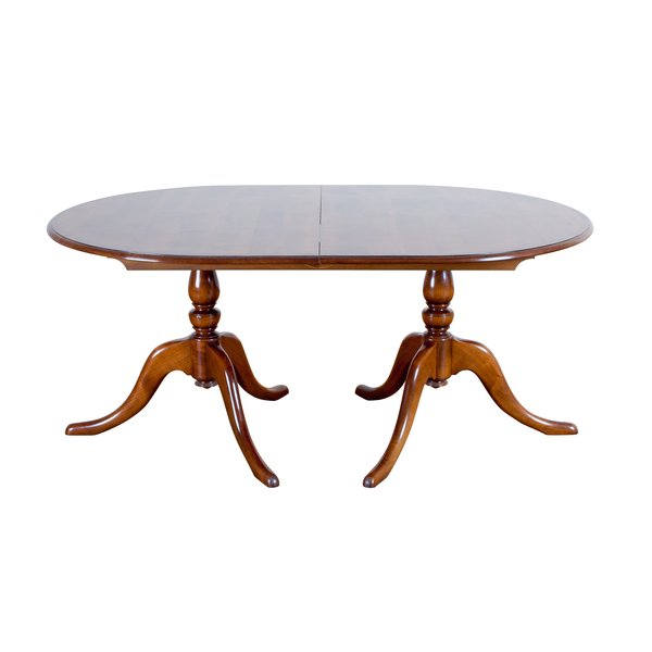 Oval Wooden Extending Dining Table - Oak Dining Tables - Tudor Oak, UK