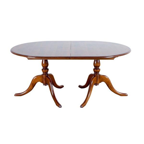 Oval Wooden Extending Dining Table - Oak Dining Tables - Tudor Oak, UK