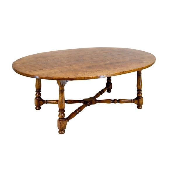 Oval Oak Dining Table - Solid Oak Dining Tables - Tudor Oak, UK