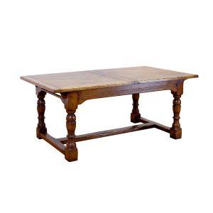 Large Oak Extending Dining Table - Oak Dining Tables - Tudor Oak, UK