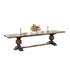 Large Elizabethan Oak Refectory Table - Oak Dining Tables - Tudor Oak