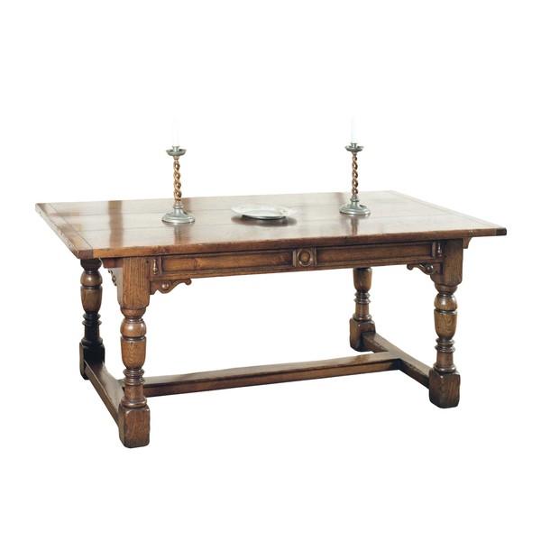 Extending Oak Dining Table - Solid Oak Dining Tables - Tudor Oak, UK