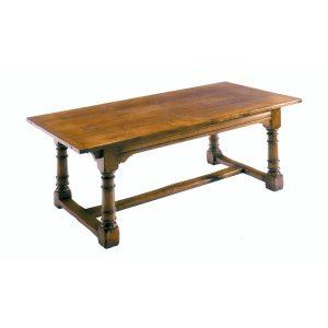 Extendable Oak Dining Table - Solid Oak Dining Tables - Tudor Oak, UK