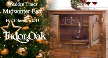 Tudor Oak brings handmade oak furniture to the Wealden Times Midwinter Fair 2017 in Kent