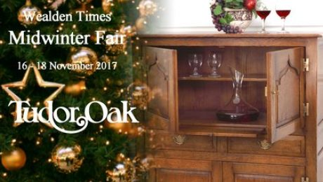 Tudor Oak brings handmade oak furniture to the Wealden Times Midwinter Fair 2017 in Kent
