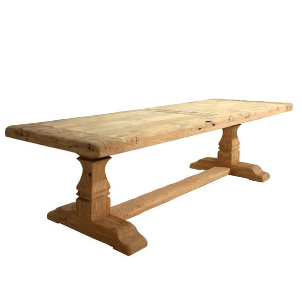 Farmhouse Dining Table - Modern Oak Furniture - Tudor Oak, UK