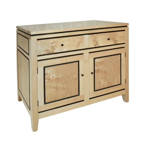 Art Deco Sideboard with 2 drawers & 2 doors - Pippy Oak - Sideboards & Dresser Bases - Tudor Oak