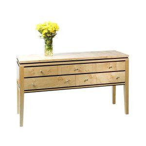 Light Oak Console Table - Modern Oak Furniture - Tudor Oak, UK