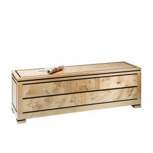 End of Bed Storage - Modern Oak Furniture - Tudor Oak, UK