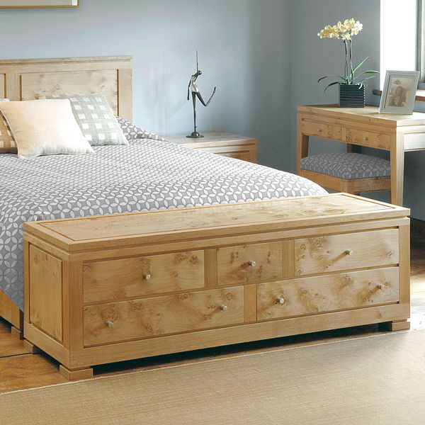 Stylish End Of Bed Bench Storage Seating Bedroom Benches: Modern Oak Furniture