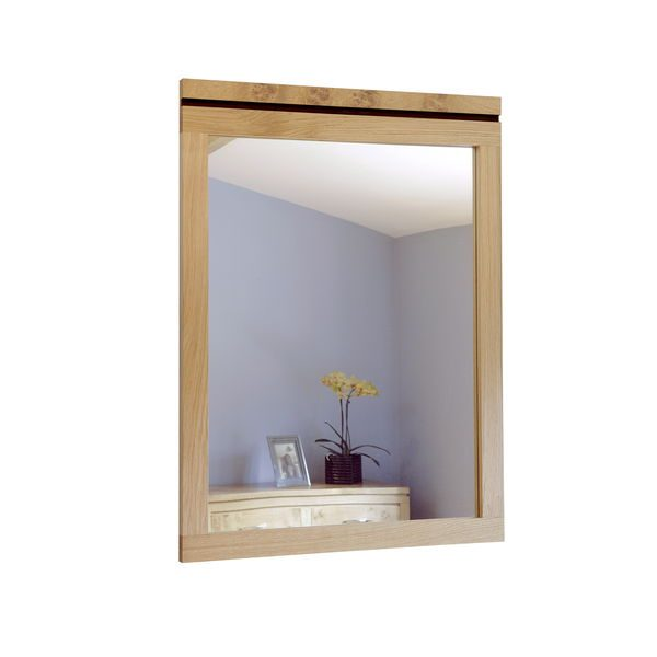 Hanging Mirror in Light Oak Frame - Modern Oak Furniture - Tudor Oak
