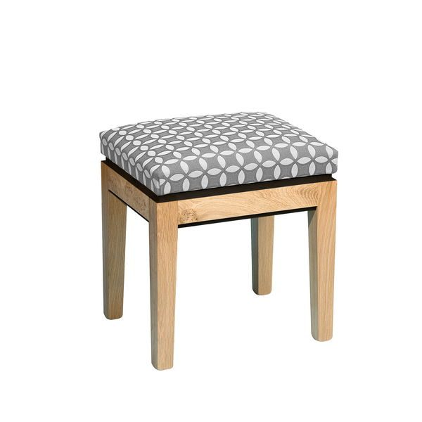Light Oak Dressing Table Stool - Modern Oak Furniture - Tudor Oak, UK