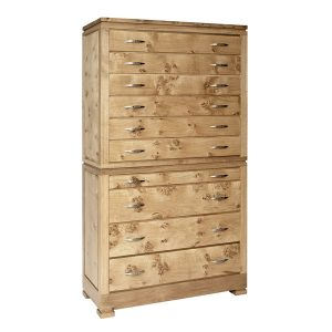 Light Oak High Chest of Drawers - Modern Oak Furniture - Tudor Oak, UK
