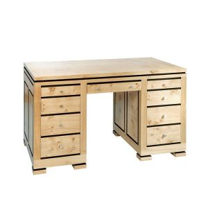 Light Oak Desk with Drawers - Modern Oak Furniture - Tudor Oak, UK