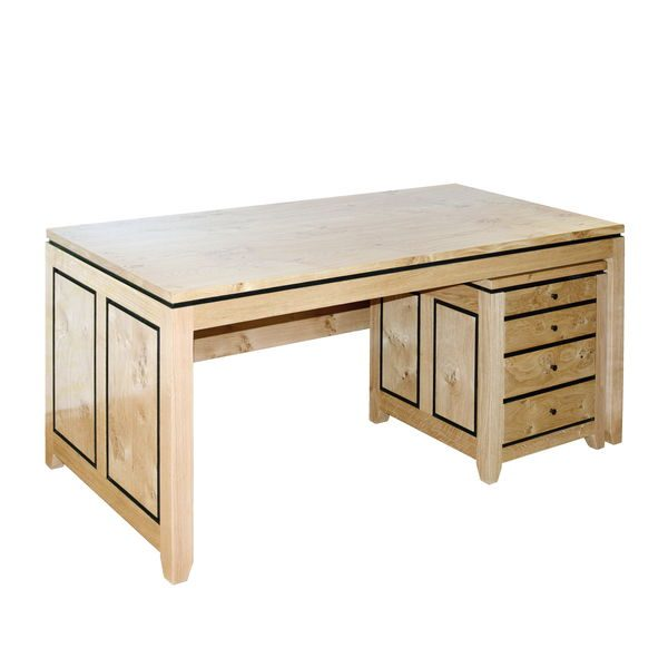 Light Oak Writing Desk - Modern Oak Furniture - Tudor Oak, UK