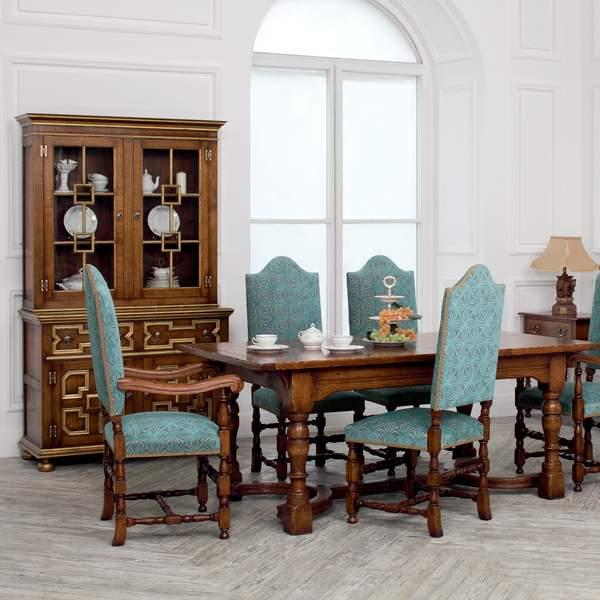 Premium Solid Oak Dining Set - Dining Room Furniture - Tudor Oak, UK