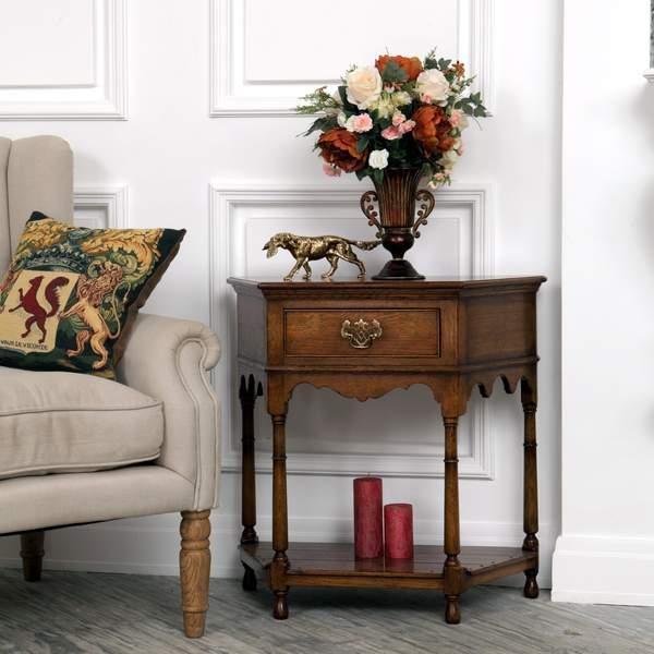 Oak Hallway Furniture - Hallway & Console Tables, Settles - Tudor Oak, UK