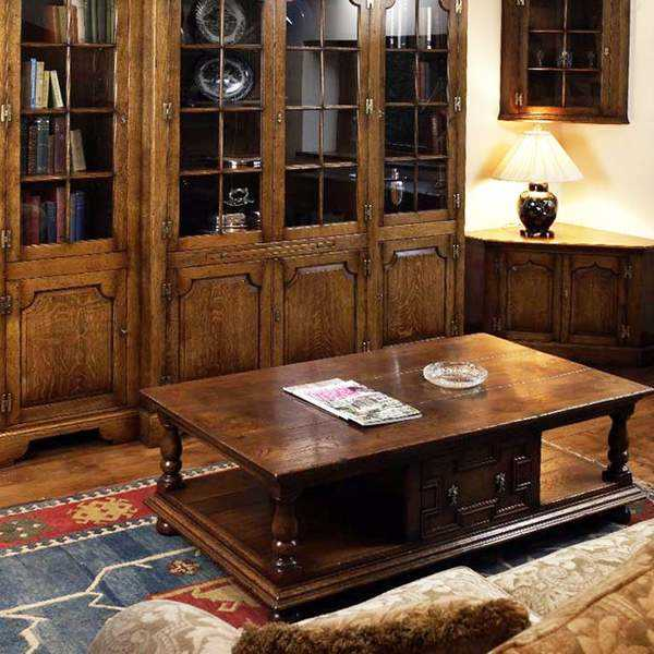 Oak Living Room Furniture Classic Dark Wood Modern Tudor Oak Uk