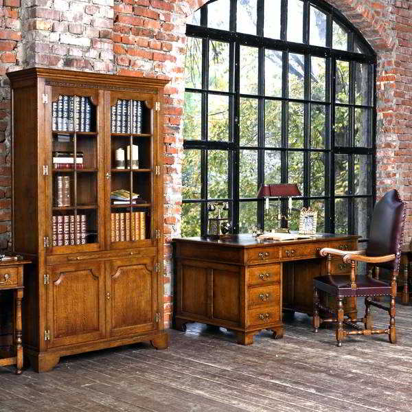 Bespoke Oak Office Furniture for Home Study & Library - Tudor Oak, UK