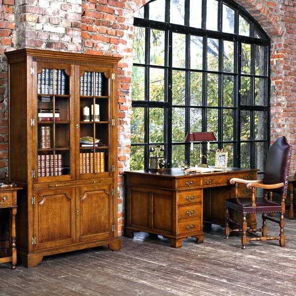 Bespoke Oak Office Furniture for Home Study & Library - Tudor Oak, UK