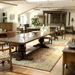 Traditional Oak Furniture Sale in Tudor Oak Showroom