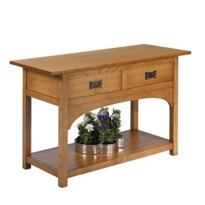 Rustic Console Table - Modern Oak Furniture - Tudor Oak, UK