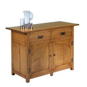 Rustic Oak Small Sideboard - Modern Oak Furniture - Tudor Oak, UK