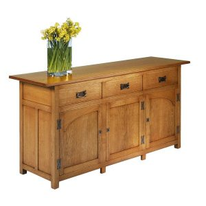 Rustic Oak Sideboard - Modern Oak Furniture - Tudor Oak, UK