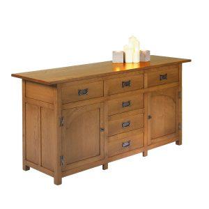 Rustic Sideboard - Modern Oak Furniture - Tudor Oak, UK